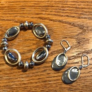 Chico's stretch bracelet and matching earrings